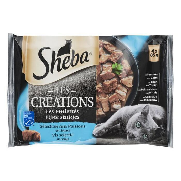 Sheba Les Creations vis selectie in saus (4 × 340g)