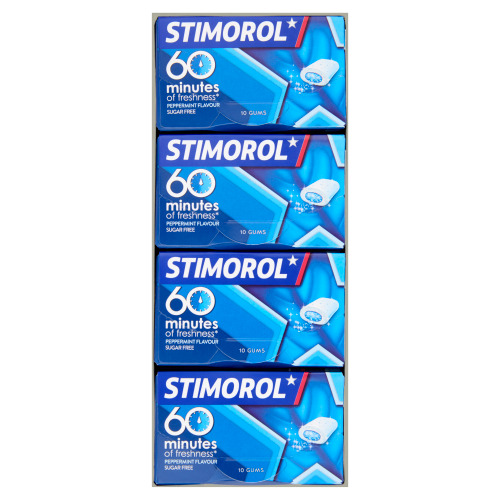 Stimorol 60 Minutes of Freshness Pepermint Flavour Sugar Free 16 x 20 g (20g)
