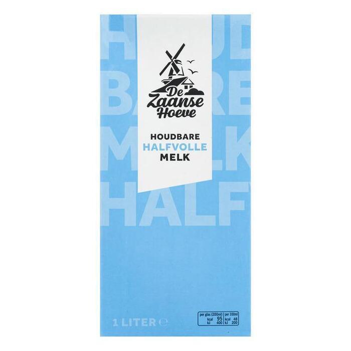 De Zaanse Hoeve Halfvolle melk houdbaar (1L)