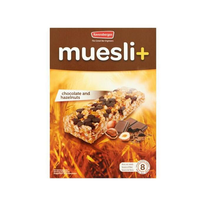Ravensbergen Muesli+ Chocolate and Hazelnuts 8 x 23g (8 × 23g)