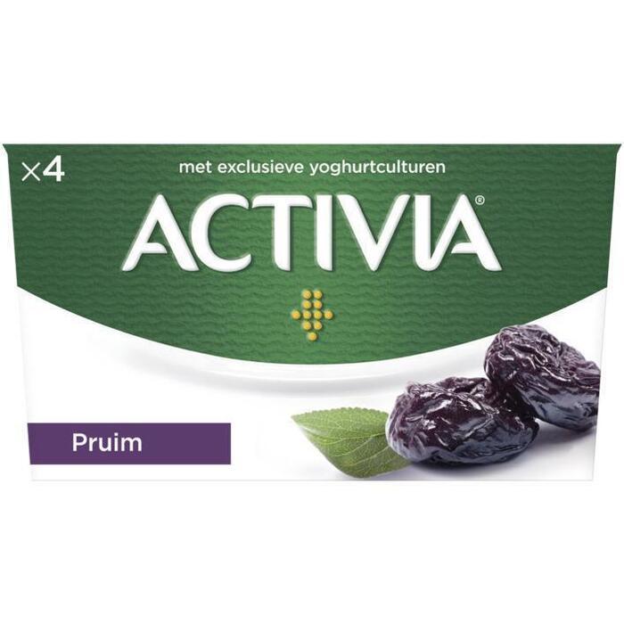 Activia yoghurt pruim (Stuk, 4 × 125g)