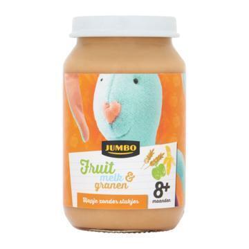 Jumbo Fruit Melk & Granen 8+ Maanden 200g (200g)