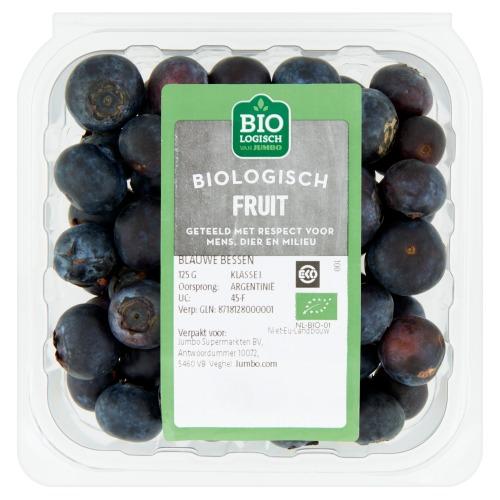 Jumbo Biologische Blauwe Bessen 125g (125g)