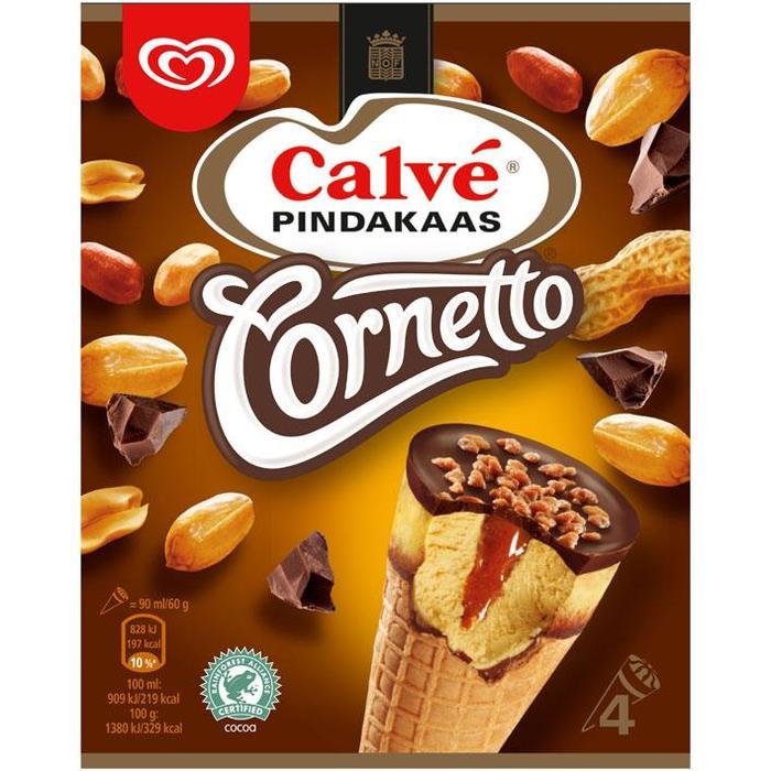 ***Cornetto pindakaas 4st (4 × 36cl)