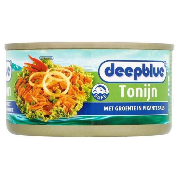 Tonijn en groente in pikante saus (blik, 190g)