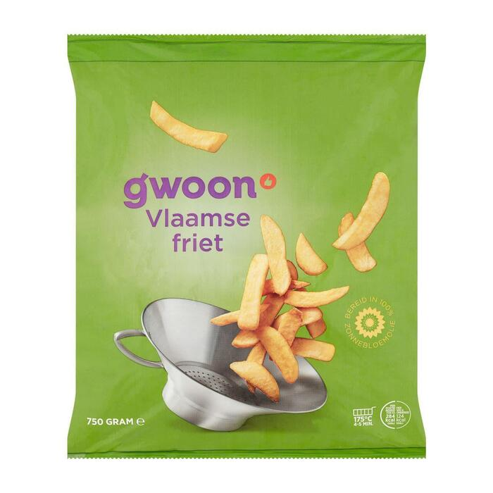 g'woon Vlaamse frites (750g)