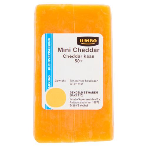 Jumbo Mini Cheddar Kaas Kleinverpakking 50+ 72 g (72g)