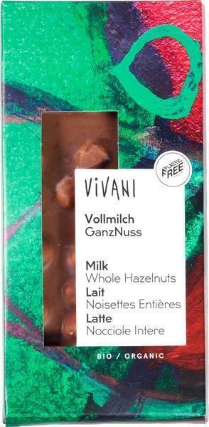 Vivani Vollmilch Ganznuss (100g)