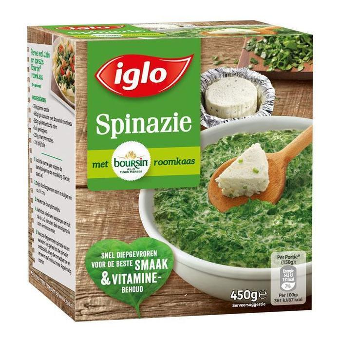 Fieldfresh spinazie boursin (450g)