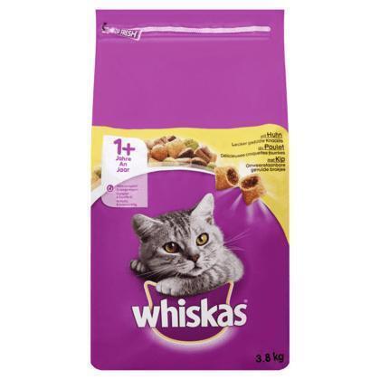 Whiskas met Kip 1+ 3,8 kg (3.8g)