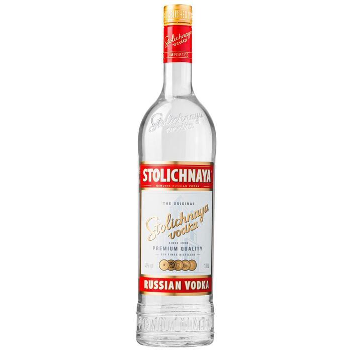 Stolichnaya Russian Vodka 1,0 L (rol, 1L)
