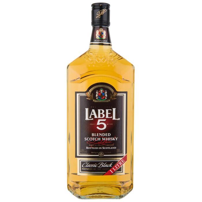 Label 5 Blended Scotch Whisky 100cl (rol, 1L)