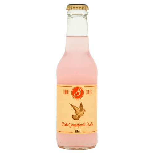 Three Cents Pink Grapefruit Soda 200ml (200ml)