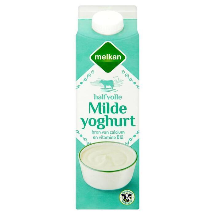 Halfvolle Milde Yoghurt (pak, 1L)