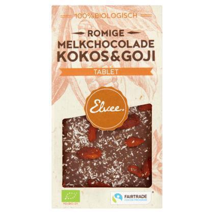 Melk kokos/goji tablet BIO/FT (Stuk, 85g)