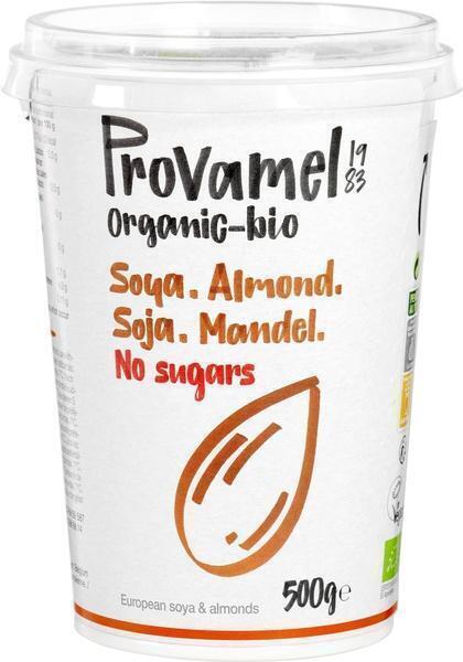 Plantaardige variatie op yoghurt amandel zonder suikers (500g)