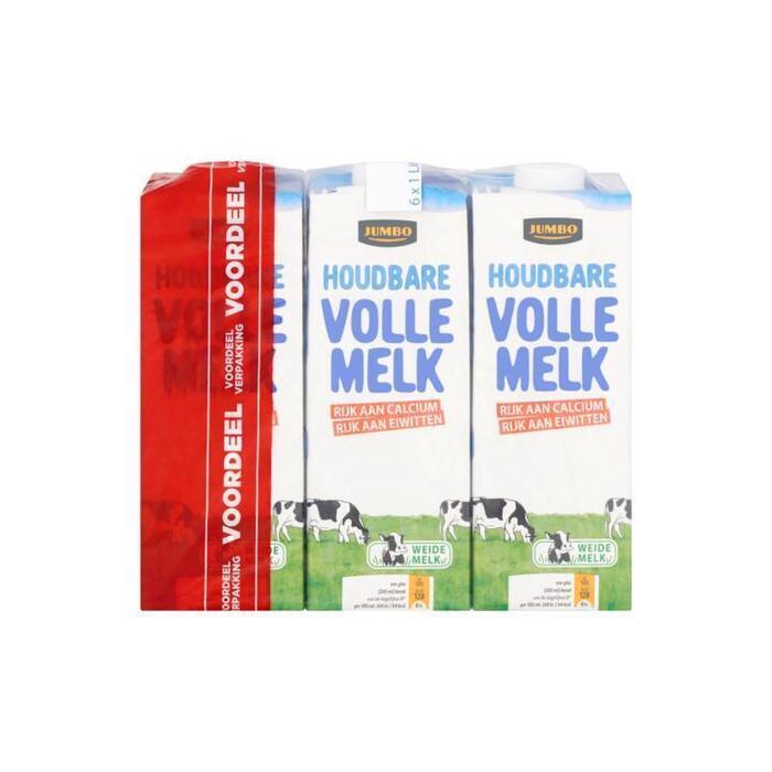 Jumbo Houdbare Volle Melk Voordeelverpakking 6 x 1L (6 × 1L)