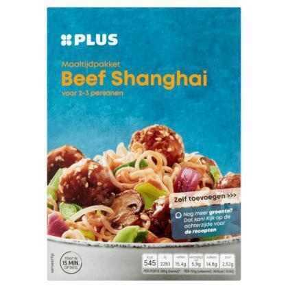 Maaltijdpakket beef shanghai (249g)