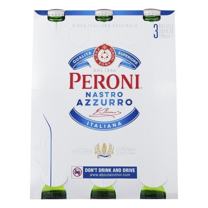 Peroni Nastro Azzuro Pilsners  (3 x 33cl) multipack (0.99L)