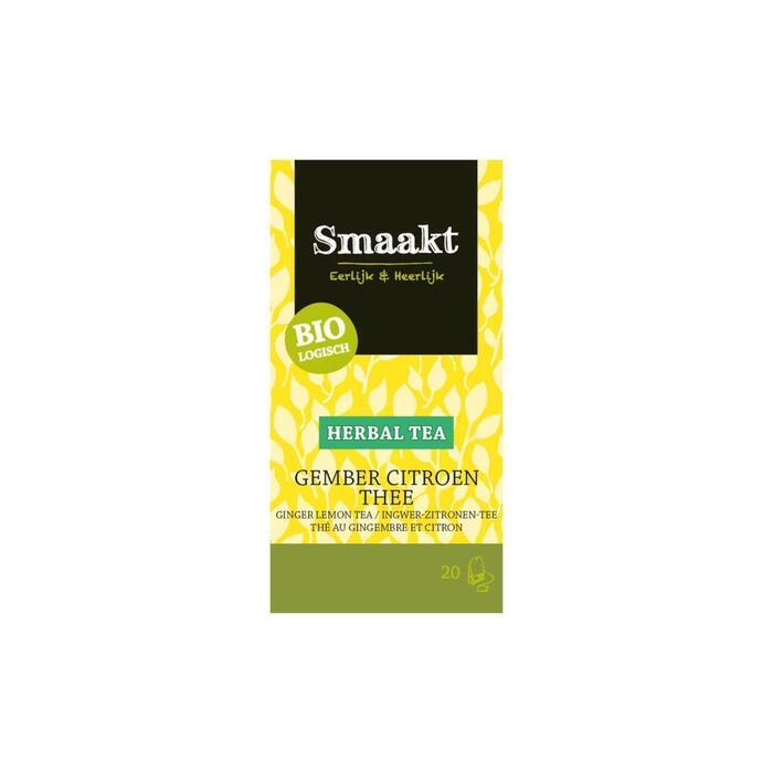 Smaakt Gember citroen thee (20 × 30g)