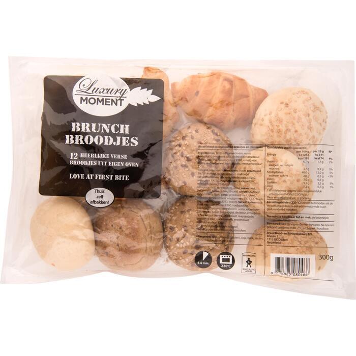 Jumbo Brood & Meer Brunch Broodjes Mini Croissants Witte & Meergranen Broodjes 12 Stuks 300g (300g)
