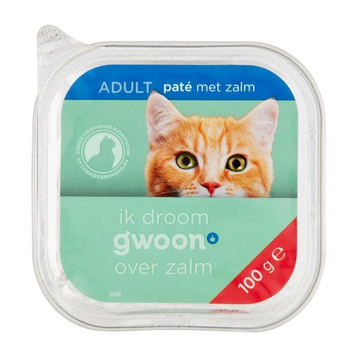 g'woon Pate kat met zalm (100g)