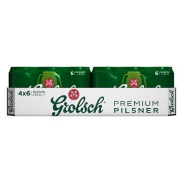 Grolsch Premium Pils Blik 4 x 6 x 33 cl (24 × 33cl)