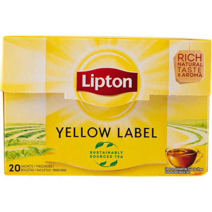 Thee yellow label 1-kops (zakjes, 20 × 30g)