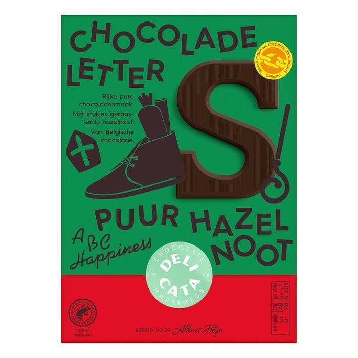 Delicata Chocoladeletter puur hazel (willekeurig) (90g)