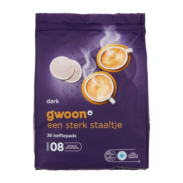 g'woon Koffiepads dark (36 × 252g)
