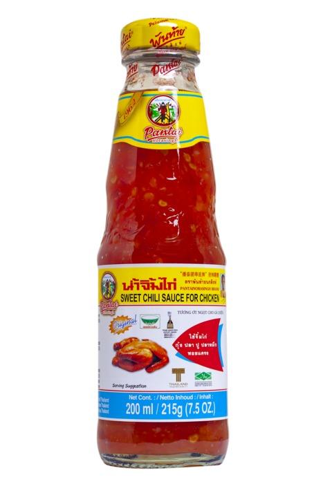 Pantainorasingh sweet chili saus fles 200 ml (200ml)