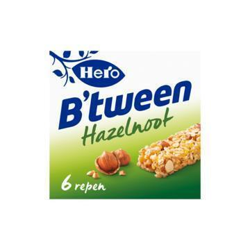 Hero B'tween Hazelnoot 6 x 25 g (Stuk, 6 × 25g)