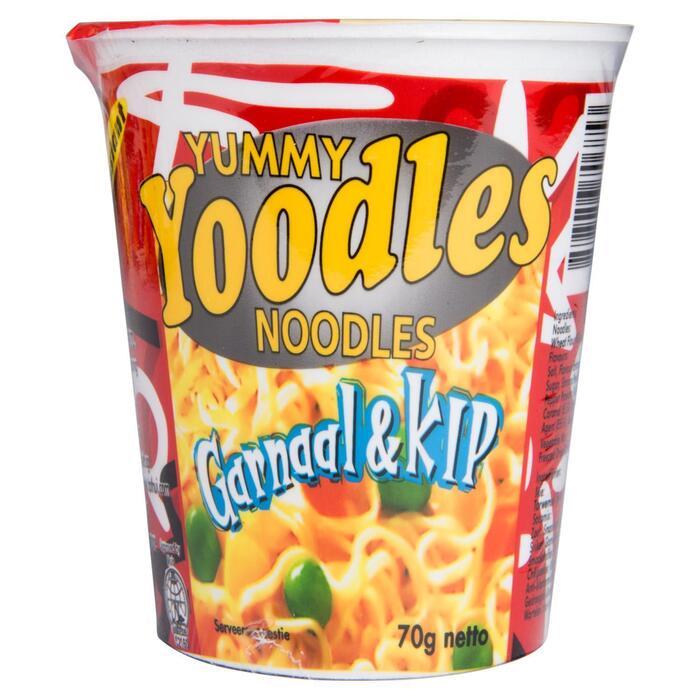 YUMMY YOODLES - INSTANT NOODLES - KIP/GARNAAL - BEKER 70 G (70g)