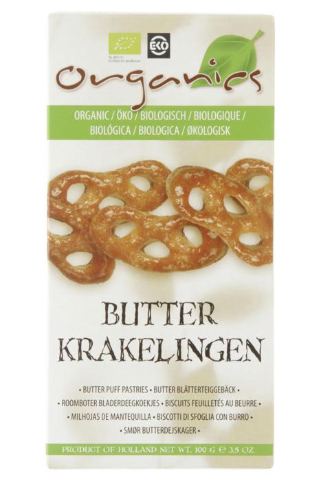 Organics Roomboter Bio Krakelingen 100g (100g)