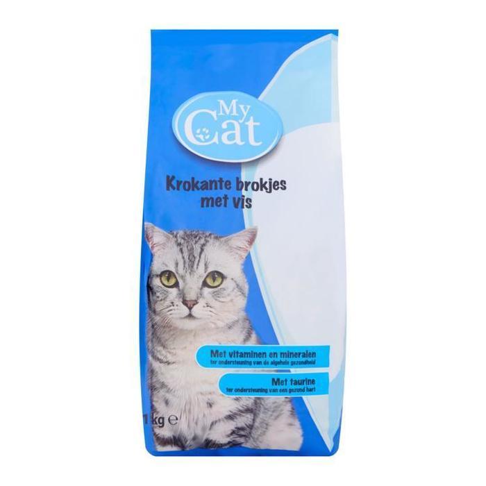 My Cat Krokante Brokjes met Vis 1kg (1kg)
