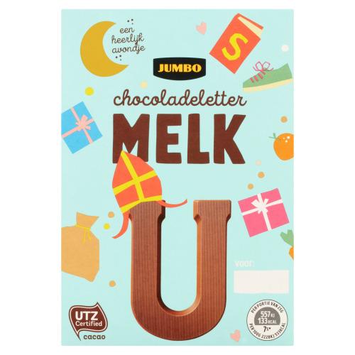 Jumbo Melkchocolade Letter U 65 g (65g)