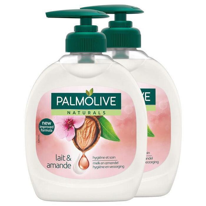 Palmolive Vloeibare zeep amandel duo (0.6L)