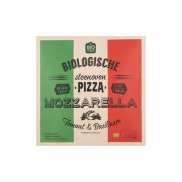 Jumbo Biologische Steenoven Pizza Mozzarella Tomaat & Basilicum 350g (350g)