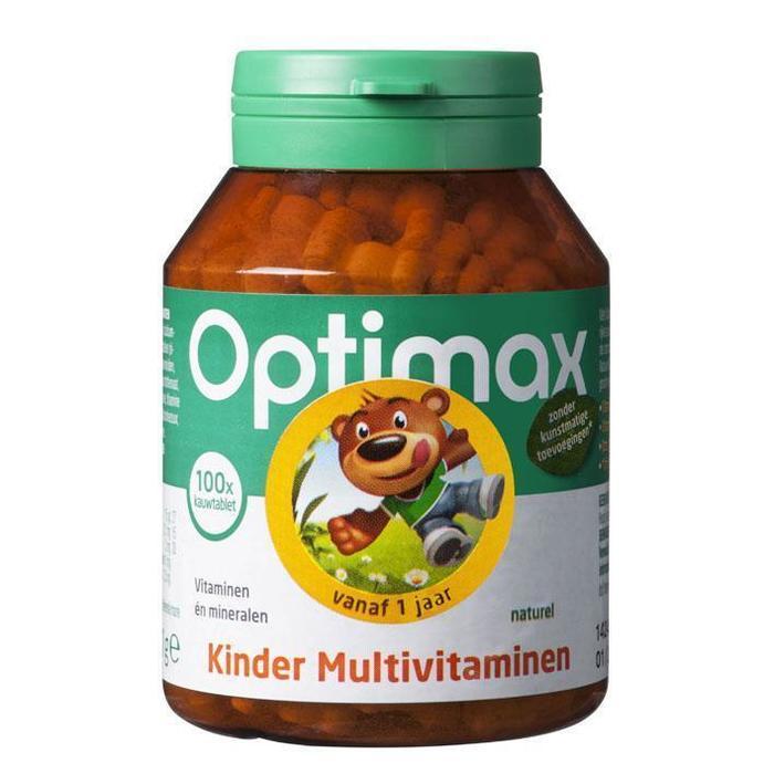 Optimax Kinder multivitaminen naturel (100 × 111g)