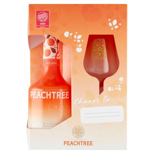 Peachtree The Original Peach Liqueur + Glas (0.7L)