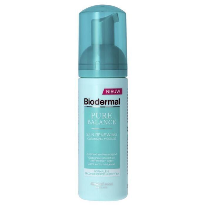 Biodermal Pure Balance skin renewing cleans mousse (150ml)