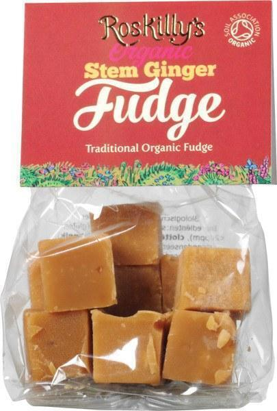Stem ginger fudge (100g)
