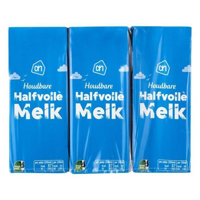Halvolle melk houdbaar (pak, 6 × 200ml)