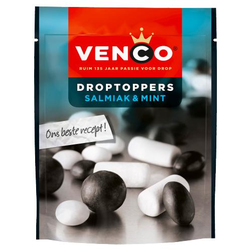 Venco Droptoppers Salmiak & Mint 110 gram (210g)