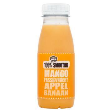 100% smoothie mango, passievrucht, appel, banaan (250ml)