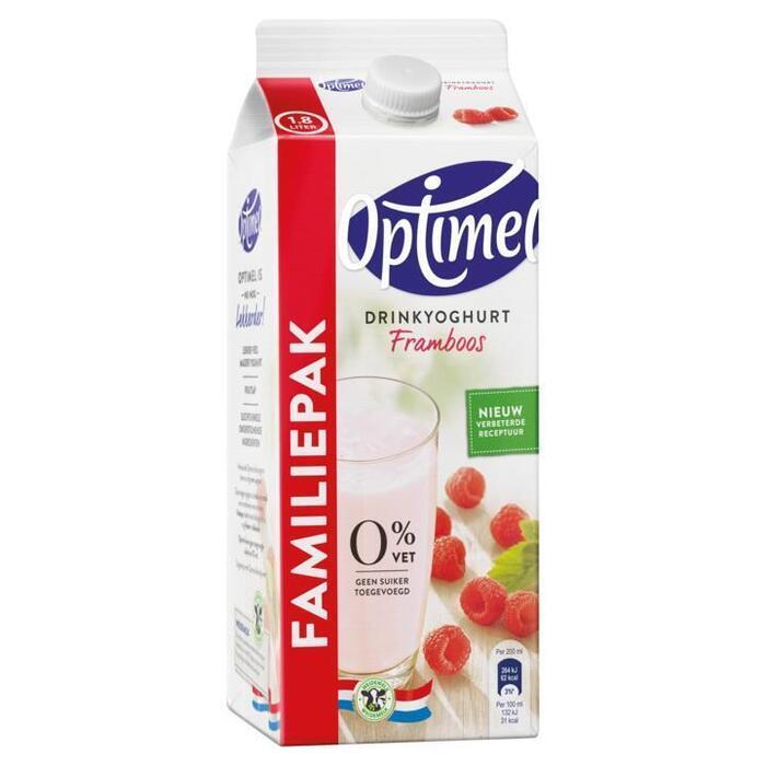 Optimel drinkyoghurt framboos 1,8 lt pak met punt (1.8L)