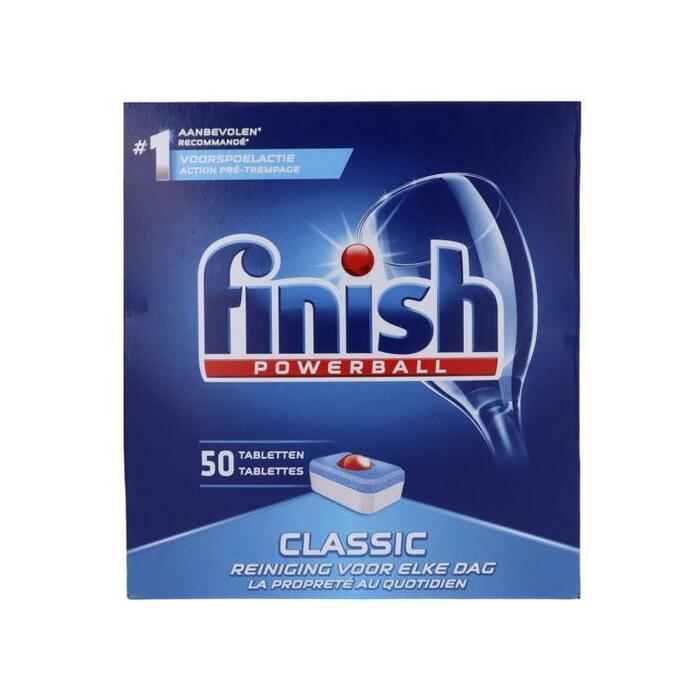 Finish Classic vaatwastabletten met powerball (50 × 832g)