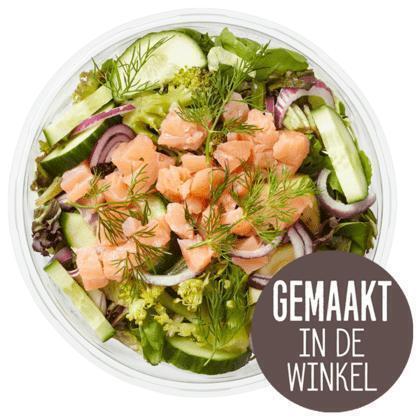 Gerookte zalm salade (450g)