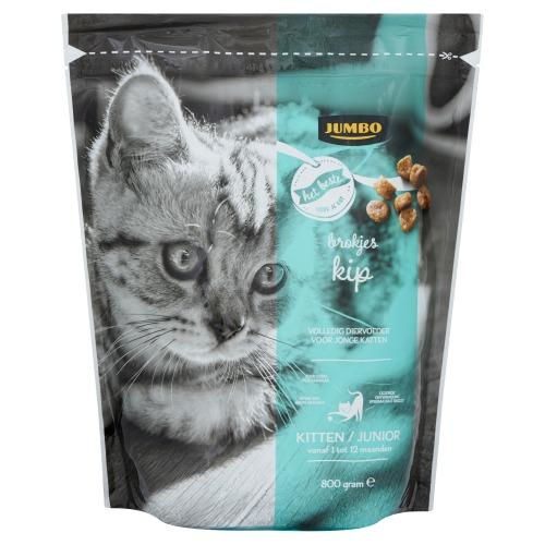 Jumbo Brokjes Kip Kitten / Junior Vanaf 1 tot 12 Maanden 800g (800g)