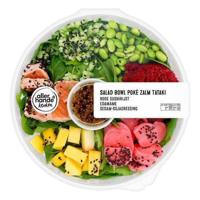 AH Saladebowl poke zalm tataki (450g)